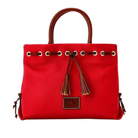 D&B Pebble Leather Tassel Tote
