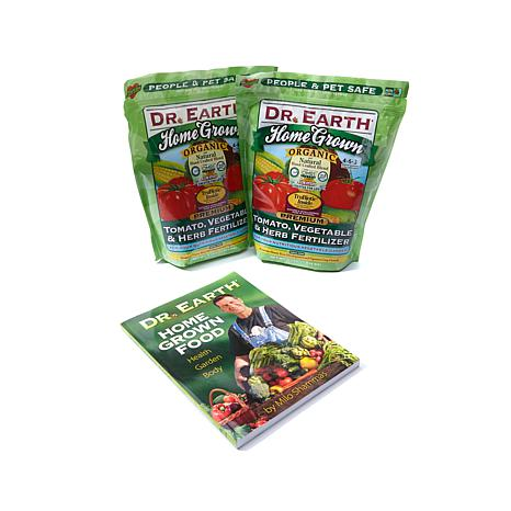 Dr. Earth 2-pack Home-Grown Vegetable Fertilizer w/Book