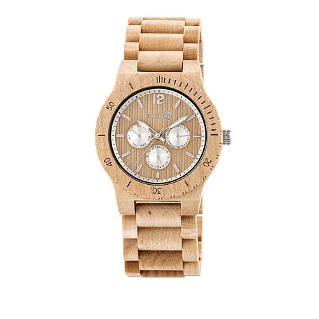 "Earth Wood Goods ""Bonsai"" Khaki Wood Bracelet Watch"