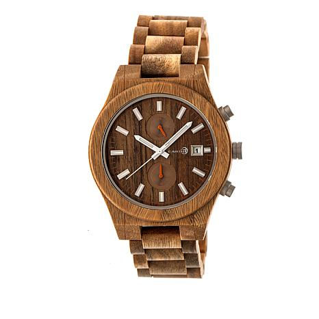 "Earth Wood Goods ""Castillo"" Olive Wood Bracelet Watch"