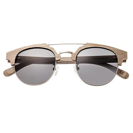 Earth Wood Kai Polarized Sunglasses with Beige Frame and Silver Lenses