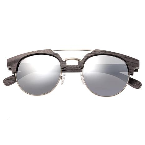 Earth Wood Kai Polarized Sunglasses with Gray Frame and Silver Lenses