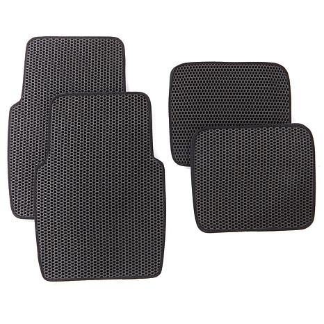 Easy Clean Double Layered Dirt Trapping Car Mat 4-pack
