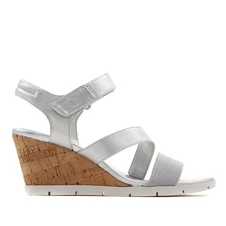 easy spirit Clay Leather Wedge Sandal