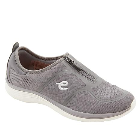 12a80ae18 easy spirit Glossy Zip-Up Walking Shoe - 8886436