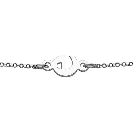 Eccentric Sideways Initial Bracelet
