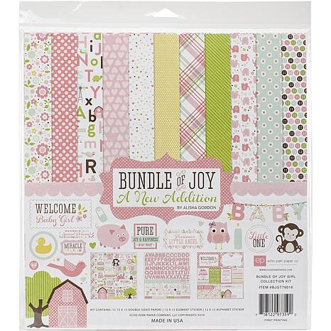 Echo Park Collection Kit 12X12 - Bundle Of Joy/A New Addition - Girl