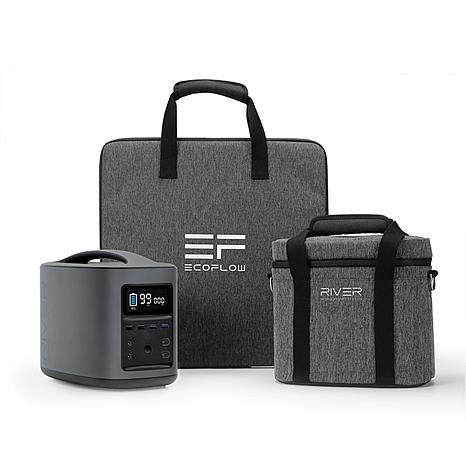 EcoFlow Tech RIVER Power Station with Case and Solar Charger