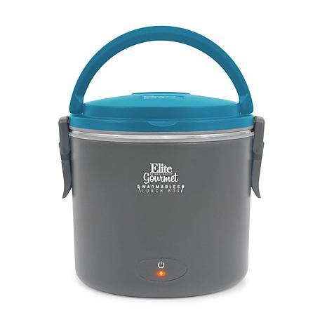 Elite Gourmet Warmables 1-Quart Teal Lunch Box Food Warmer