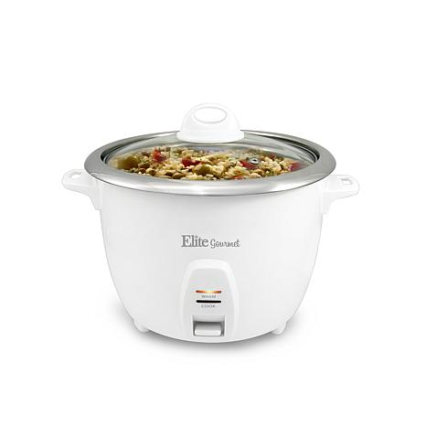 Elite Platinum 10-Cup Rice Cooker with Stainless Steel Cooking Pot
