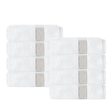 Enchante Home Elegante 100% Turkish Cotton 8-piece Hand Towel Set