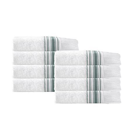 Enchante Home Monaco Set of 8 Turkish Cotton Wash Cloths