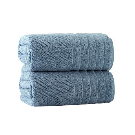Enchante Home Veta Set of 2 Turkish Cotton Bath Sheets