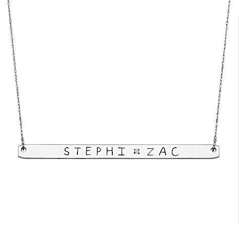 Engraved Diamond-Accented Couples' 2-Name Necklace