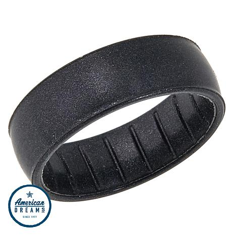 Enso Elements Classic Black Pearl Color Silicone Band Ring