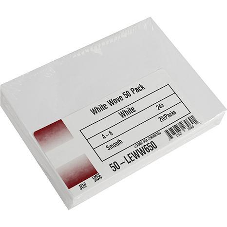 """Envelopes A6 (4-3/4"""" x 6-1/2"""") 50-pack - White"""