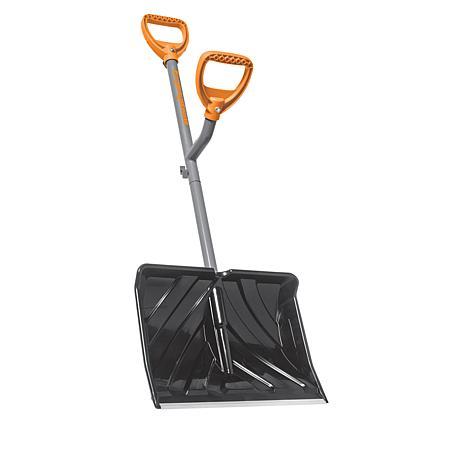 "Ergieshovel 18"" Impact Resistant Snow Shovel with Extra Handle"