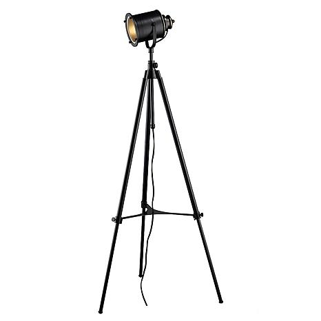 Ethan Adjustable Tripod Floor Lamp - Black