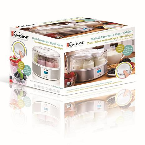 Euro cuisine digital yogurt maker 7537101 hsn for Automatic yogurt maker by euro cuisine