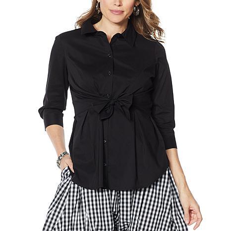 Evryday Jane Tie-Front Shirt