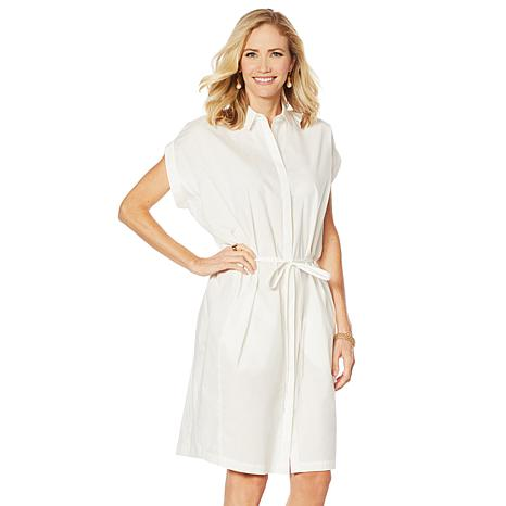 Evryday Jane Zoie Button Front Shirt Dress