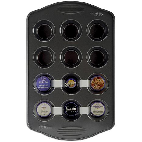"Excelle Elite Mini Muffin Pan - 12 Cavity 2"" x 3/4"""