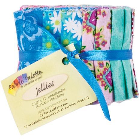 "Fabric Palette Jellies 2-1/2"" x 42"" Cuts 20-pack"