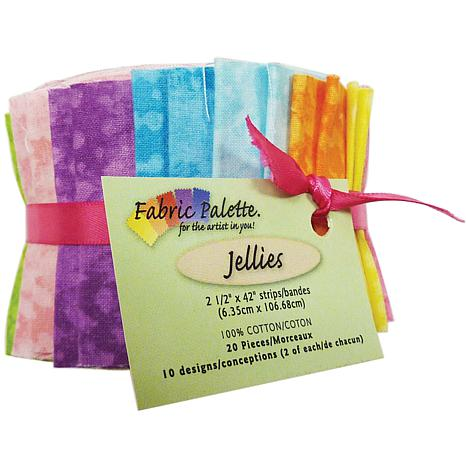 Fabric Palette Jellies Cotton Cuts 20 Pack - Textures