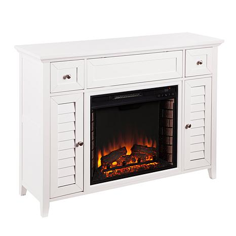 Fairbury 3 in 1 Electric Fireplace Media Console White