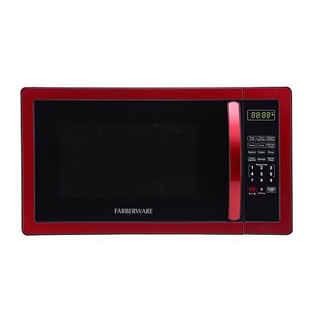 Farberware Classic 1.1 cu. ft. 1000-Watt Microwave - Metallic Red