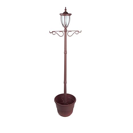Fieldsmith Solar Lamp Post W Hanging Hooks And Planter 8560816 Hsn