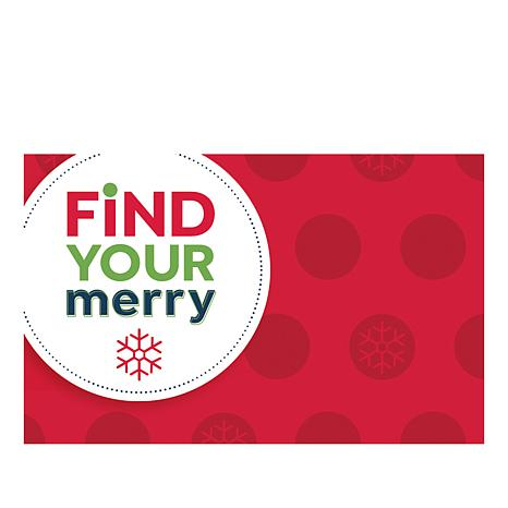 Find Your Merry $25.00 HSN Gift Card