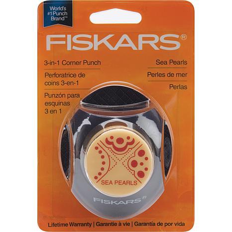Fiskars 3-in-1 Corner Punch - Sea Pearls