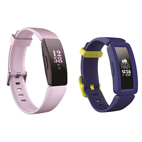 Fitbit Lilac Inspire HR and Night Sky Ace 2 Activity Tracker Bundle