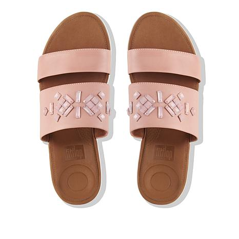 9a5f5b7a2684e FitFlop Delta Crystal Leather Slide Sandal - 8752375