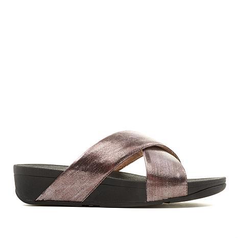 FitFlop Lulu Cross Glitz Slide Sandal