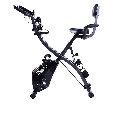 FitQuest Upright and Recumbent Bike with Resistance Bands
