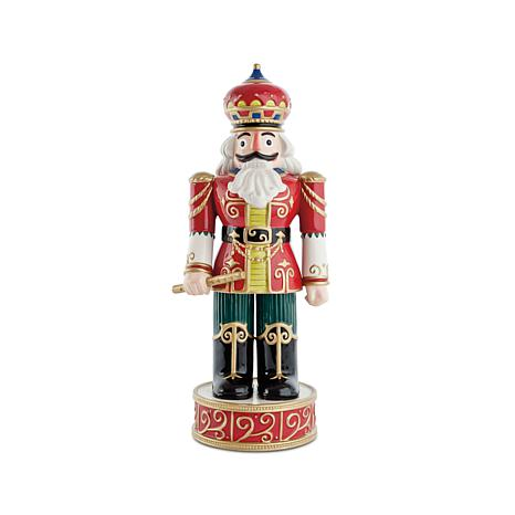 Fitz and Floyd Hand Painted Nutcracker Figurine - Red