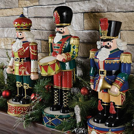 fitz and floyd hand painted nutcracker figurine red 8211652 hsn
