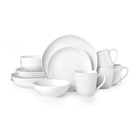 Fitz and Floyd Organic Coupe White 16-piece Dinnerware Set