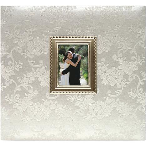 Floral Fabric With Metal Frame Album - Wedding