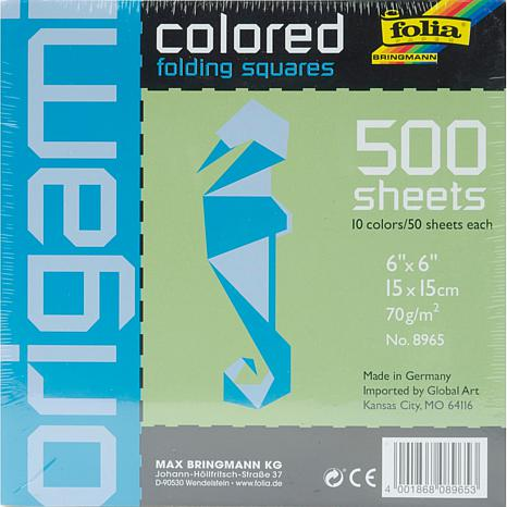 Folia Origami Paper 6X6 500-pack - Assorted