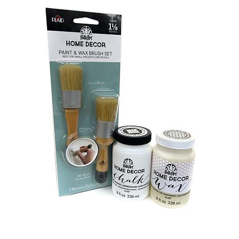 Folkart Home Decor Chalk Paint 8 Oz. Starter Kit - 8513070 | Hsn