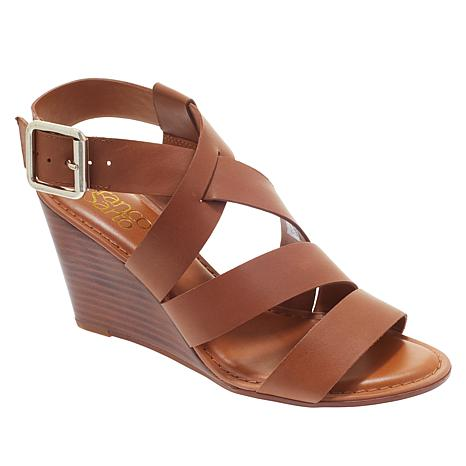 Franco Sarto Yara Leather Wedge Sandal