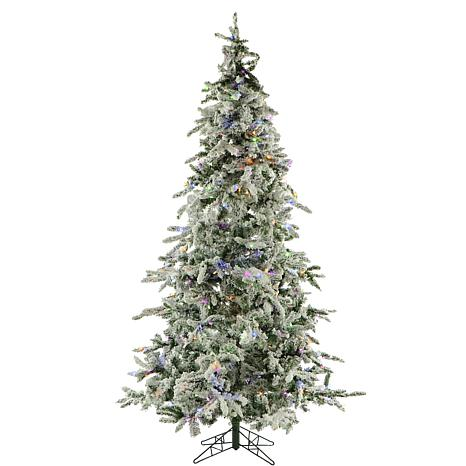 Fraser Hill Farms 9' Flocked Mountain Pine Tree - Multicolor