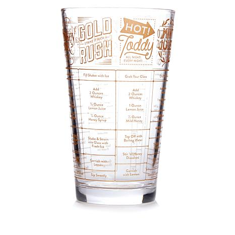 Fred and Friends Good Measure Recipe Glass - Whiskey