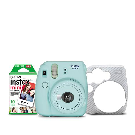 Fuji Instax Mini 9 Instant Film Camera with Film and Sleeve