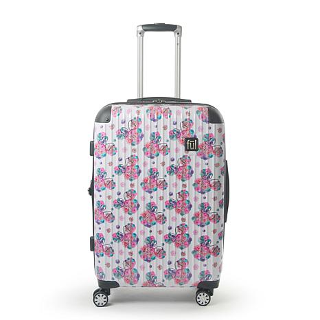 """FUL Disney Minnie Mouse  Floral 25"""" Printed Hard-sided Rolling Luggage"""