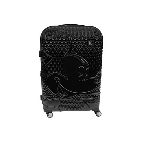 """FUL Disney Textured Mickey Mouse 21"""" Hard-Sided Rolling Luggage"""