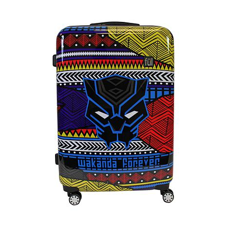 "FUL Marvel Black Panther Tribal 29"" Hard-Sided Rolling Luggage, Black"